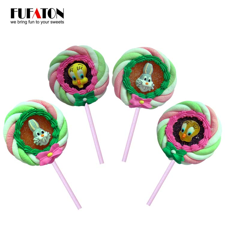 Jelly marshmallow pop with decoartion