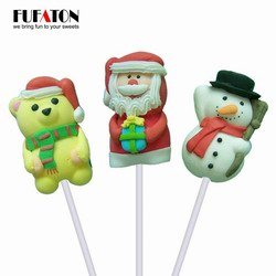 Hand Decorated Marshmallow Lollipop Candy for Christmas