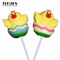 Chicken shaped Marshmallow pop for Easter