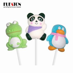 Exotic Animal Panda shaped marshmallow candy Lollipops