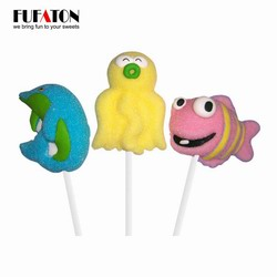 Sea Animal whale marshmallow candy lollipops