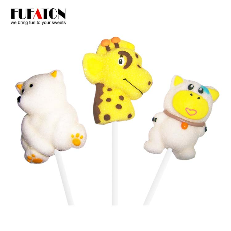 Forest Animal shaped marshmallow candy lollipops