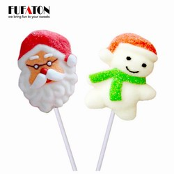 Hand decorated Mallowpop for Christmas