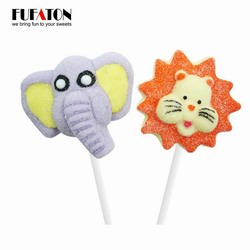 Safari shaped marshmallow lollypop
