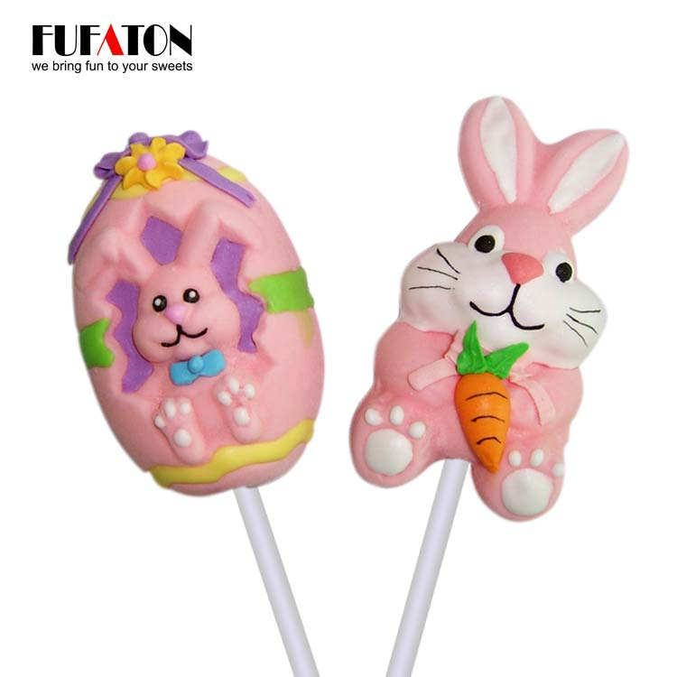 Easter bunny shaped candy mallow pop