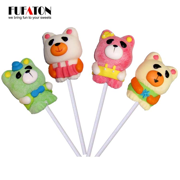 25g Handmade Teddy Bear Shaped Mallowpop Candy for boys and girls