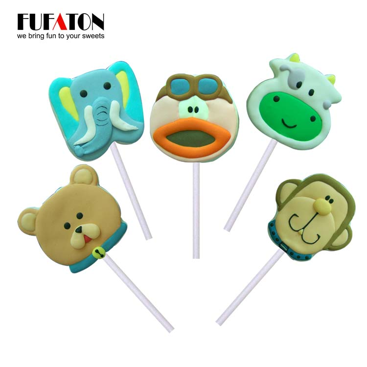 Wild animal marshmallow lollipop