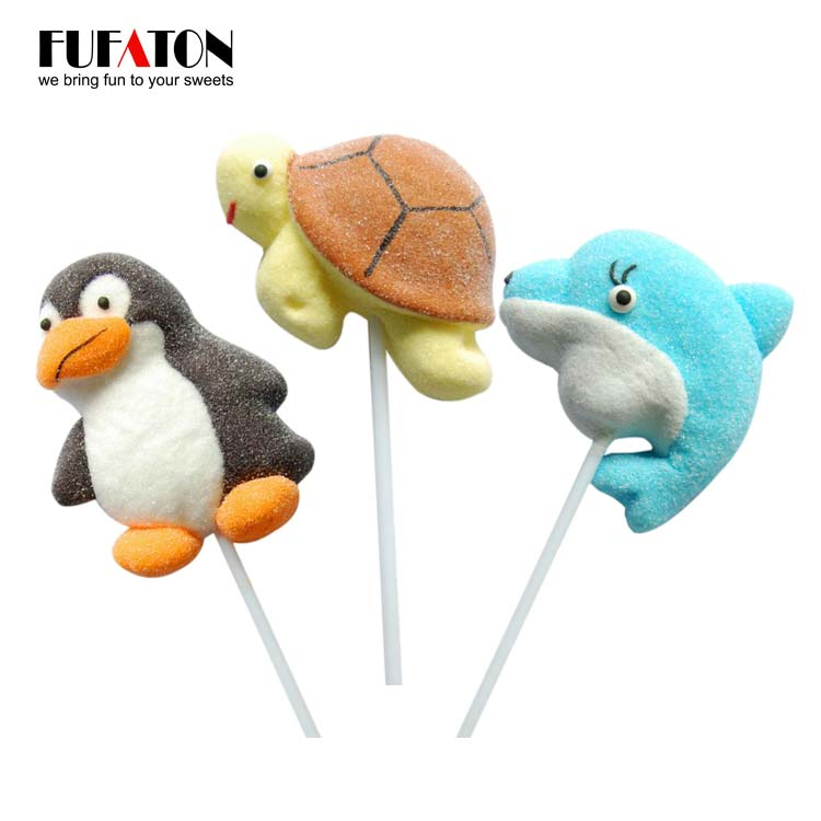 Animal Shaped Marshmallow Lollipop Candy