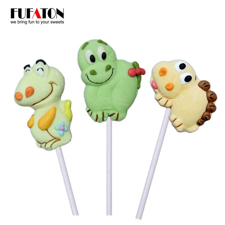 Dinasour Shaped Marshmallow lollipop Candy