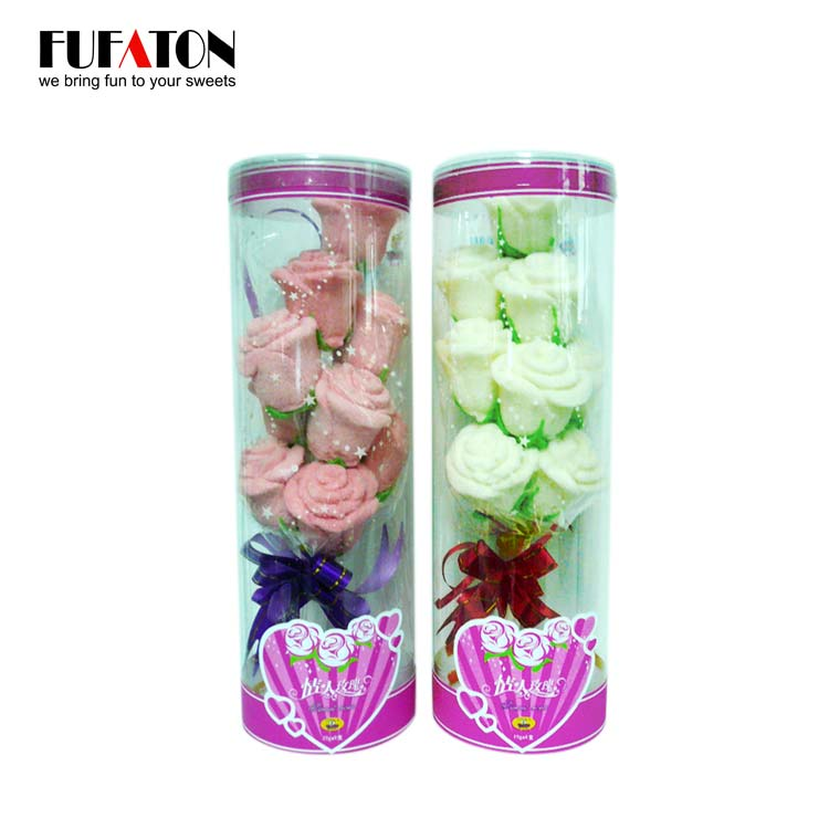 Marshmallow Rose in Cylinder