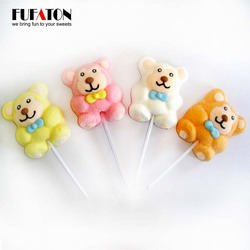 Animal bear shaped marshmallow candy lollipops