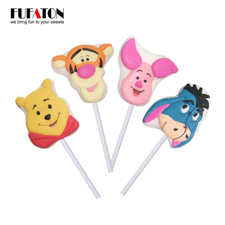 35g Disney shaped Marshmallow Lollypop Candy for Children