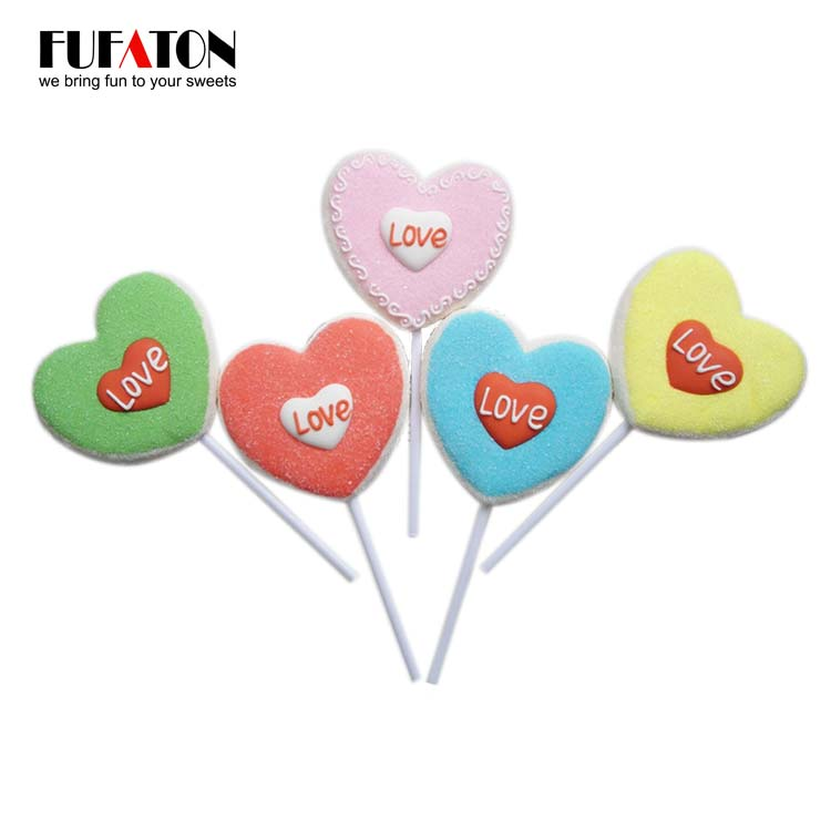 Valentine lollipops from Fufaton Candy