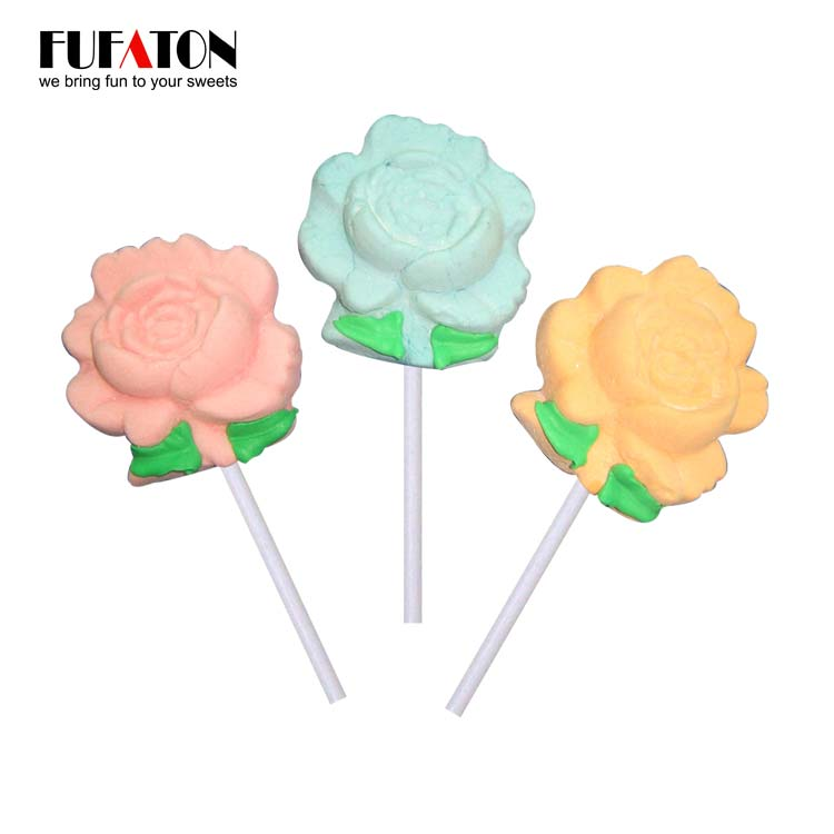 Flower shaped Marshmallow Lollipop Candy