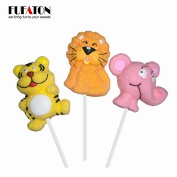 African Wildlife Animal Shaped Marshmallow Candy Lollipop