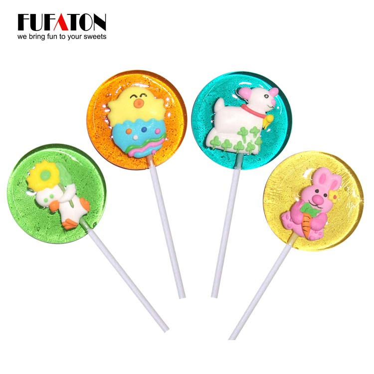 Easter hard lollipop with decoration