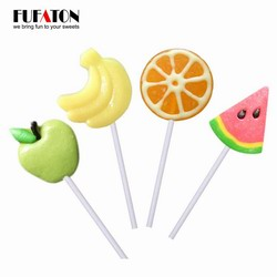 Hand decorated Fruit watermelon Shaped Lollipops Candy