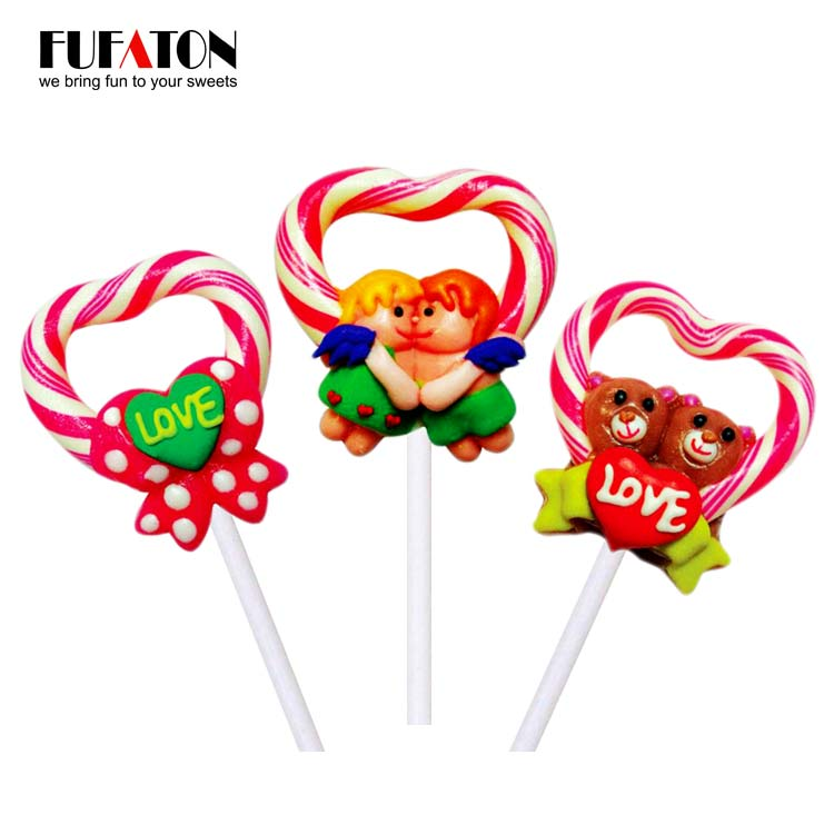 Heart shaped Wreath Candy Lollipops