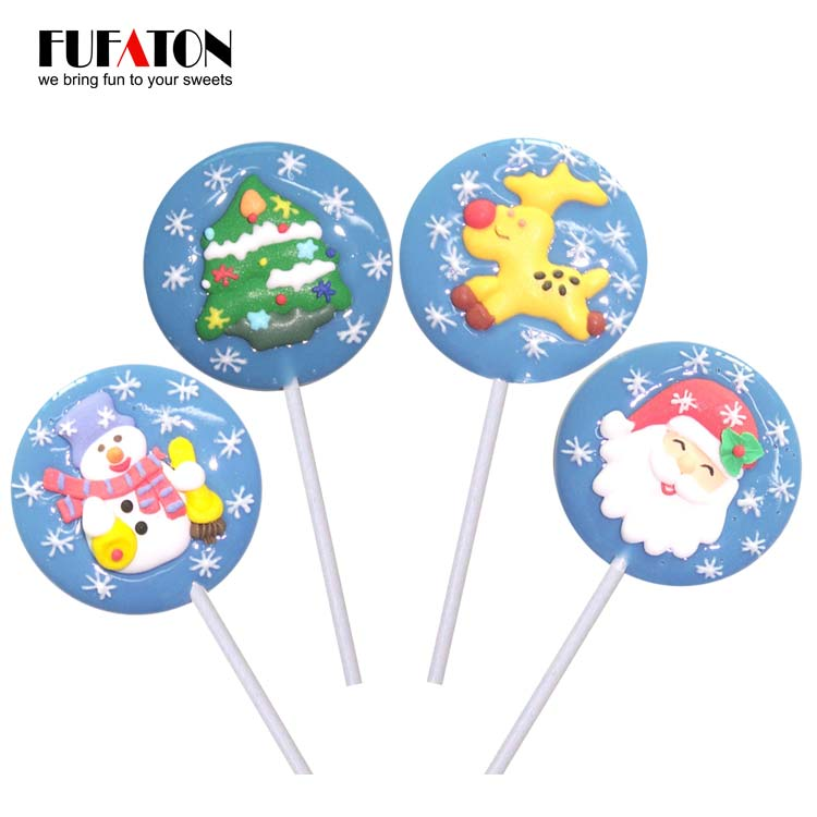 Snowflake round lollipop candy for Christmas