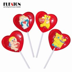 Valentine heart shaped lollipop with decoration