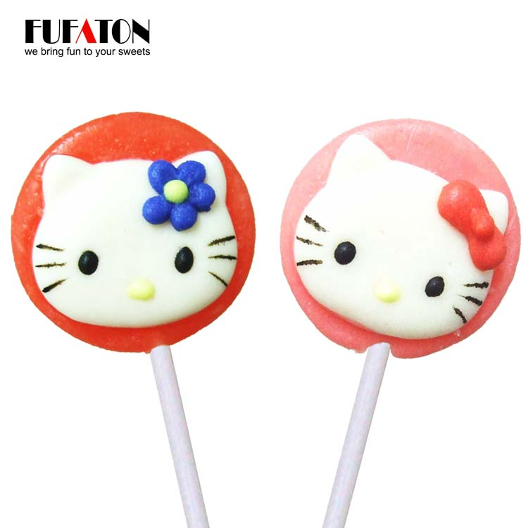 Round lollipop Candy with Hello Kitty decoration