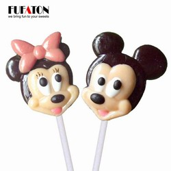 Micky & Minnie shaped candy lollipop for Children