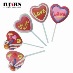 Red Sweet Heart Shaped Lollipops Candy