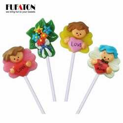 Valentine handmade hard lollipop