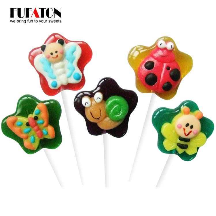 28g Crystal Insect Shaped Candy Lollipops