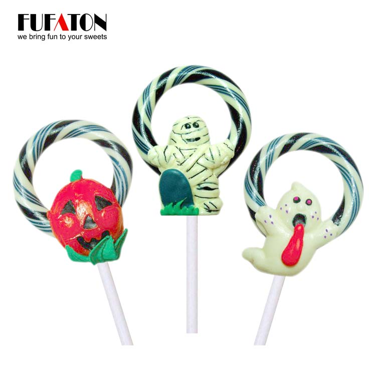 Hand made Cartoon Lollipop candy with wreath for Halloween