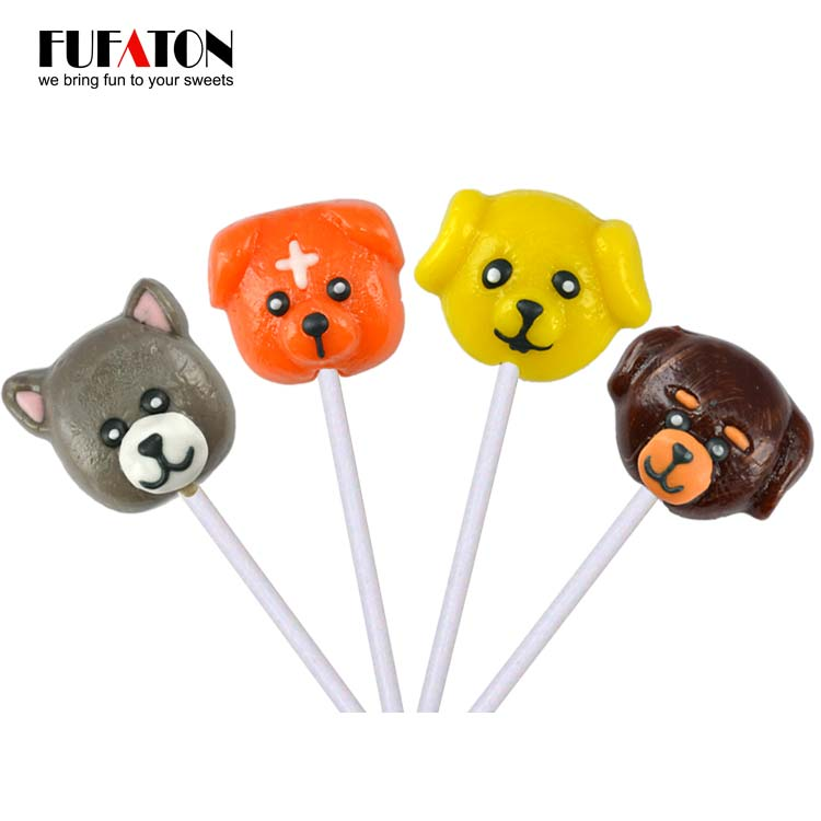 Puppy Shaped Lollipop for Children and Boys Play Candy Mix