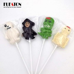 Skull shaped Hard Candy Lollipops for Halloween