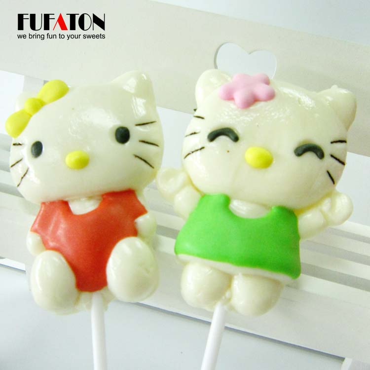 Hello Kitty shaped candy lollipop