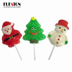 Hand decorated Christmas lollipop candy