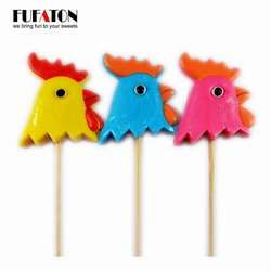 50g Russian Rooster shaped Lollipop Candy