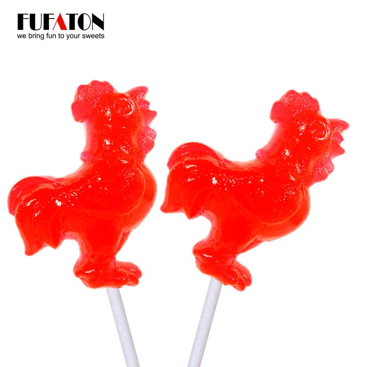 36g Rooster shaped lollipop Candy