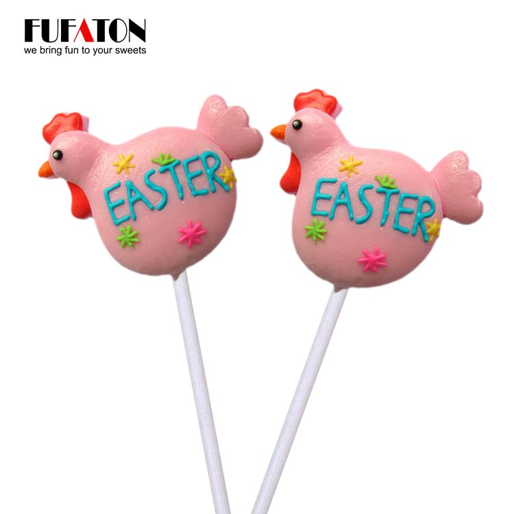 50g Hen Shaped Lollipops for Easter