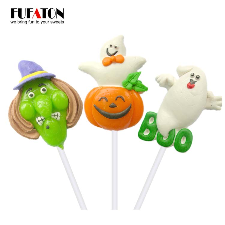 Funny decorated candy lollipop for Halloween