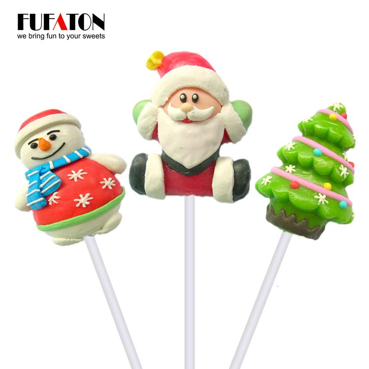 Fruit flavored cartoon shaped Lollipop Candy