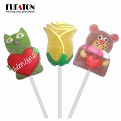 Hand decorated Jellypop for Valentine