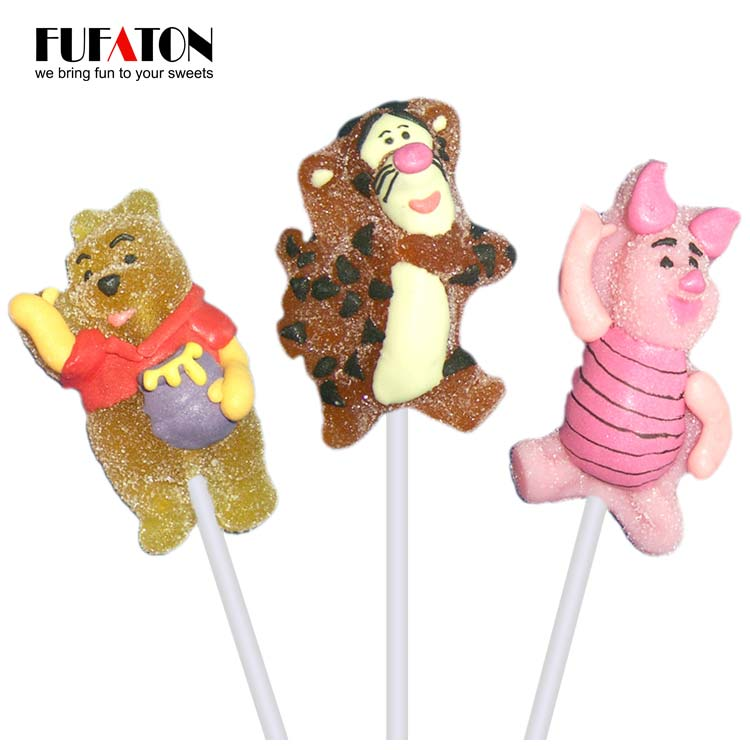Disney shaped Jelly lollipop candy for boys and girls