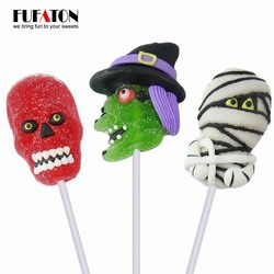 Skull shaped Halloween Jelly lollipop