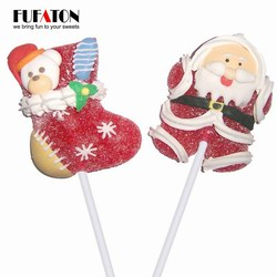 Christmas Jelly lollipop with decoration