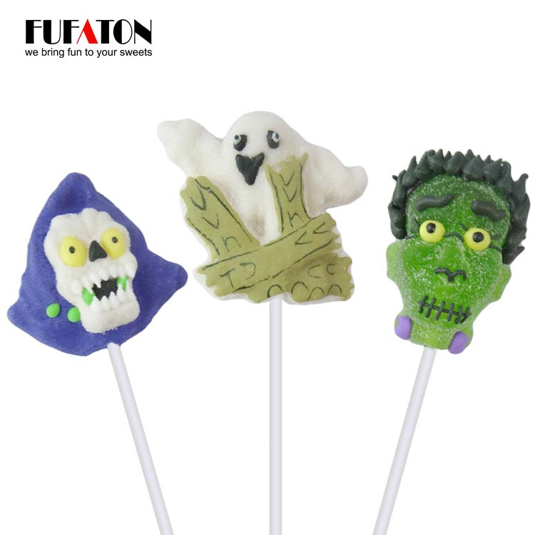 Cartoon shaped Halloween Jellypop with hand decoration