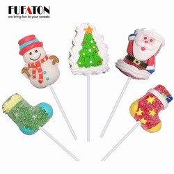 Cartoon shaped Christmas Jellypop with hand decoration