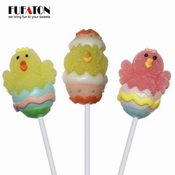Chicken jelly lollipop out of Eggs for Easter