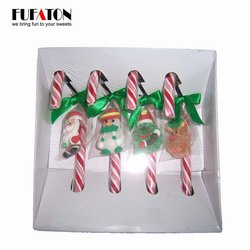 4pk Candy Cane Lollipops Christmas Decorations with Jelly Candy