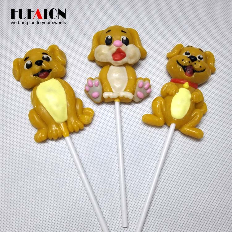 Hand decorated Puppy shape lollypop candy