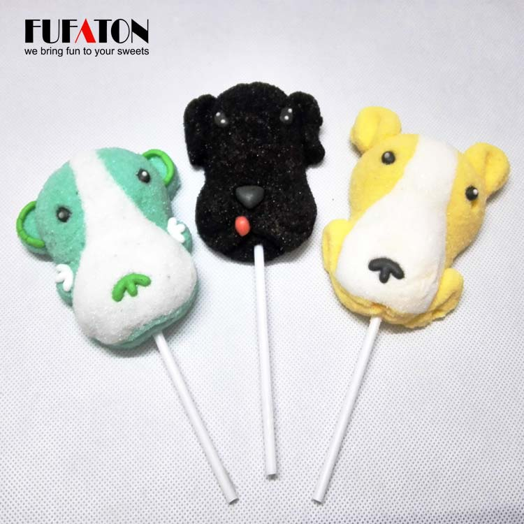Decorated Puppy marshmallow pop in China