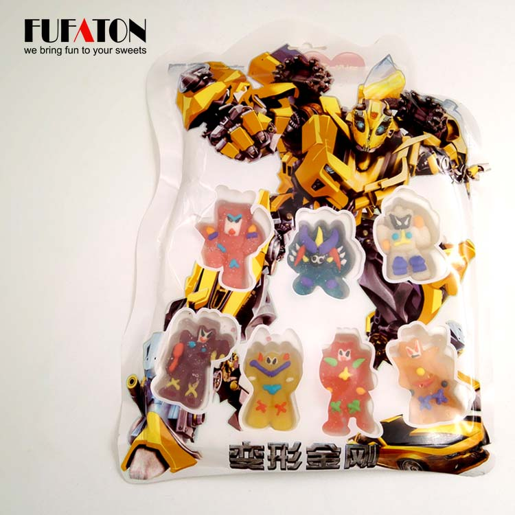 Mini cartoon jelly candy decoration in hanging bag